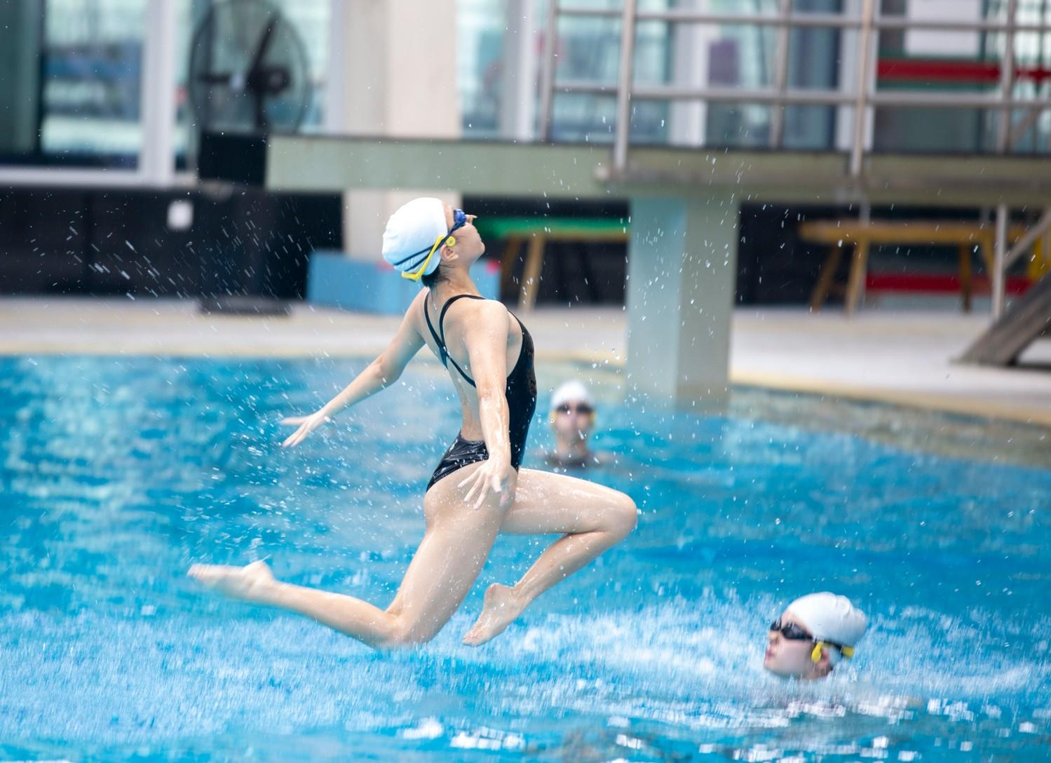 澳门花样游泳队在惠州集训